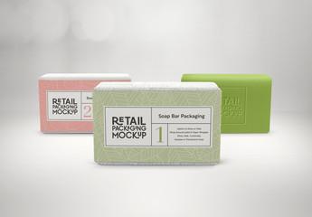 3 Soap Bar Packaging Design Mockups