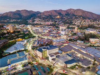 Downtown of Mbabane - capital city of Swaziland, Africa