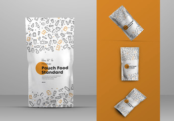4 Food Pouch Mockups
