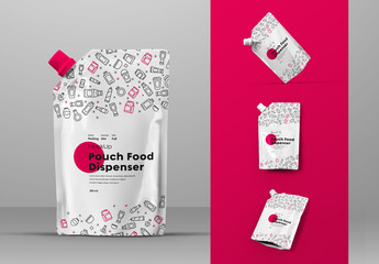 4 Food Capped Pouch Mockups