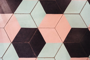 Vintage background with hexagonal shapes