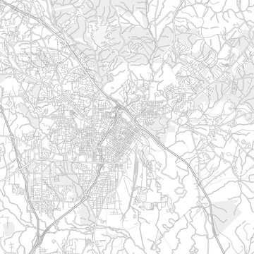 Macon, Georgia, USA, bright outlined vector map