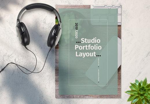 Teal and White Studio Portfolio Layout