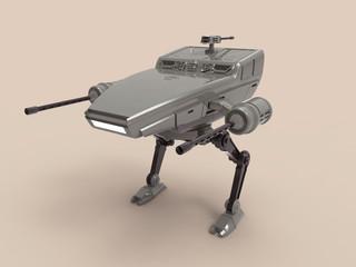 3d illustration of a war robot