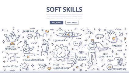 Soft Skills Doodle Concept