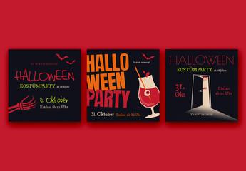 Halloween-Set für soziale Medien