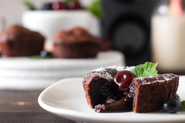 Traditional french dessert - Chocolate fondant