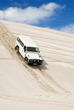 South Africa, Truck in the dunes