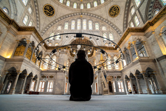 Man sitting inside the mosque