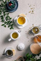 Warm chamomile tea for cold nights