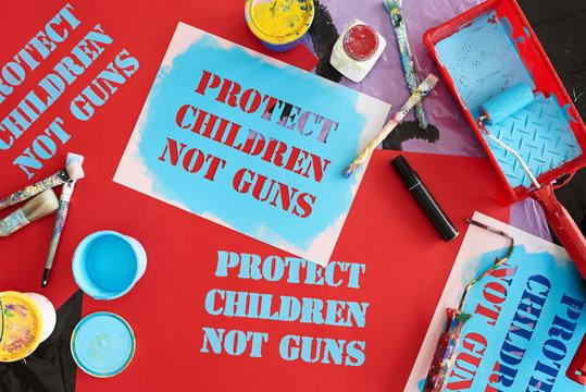 Protesting against school shootings