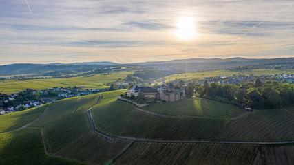 Drone photo of Schloss Johannisberg in Germany