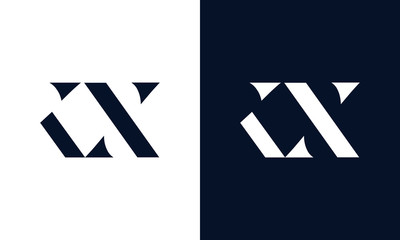 Abstract letter KX logo. This logo icon incorporate with abstract shape in the creative way.