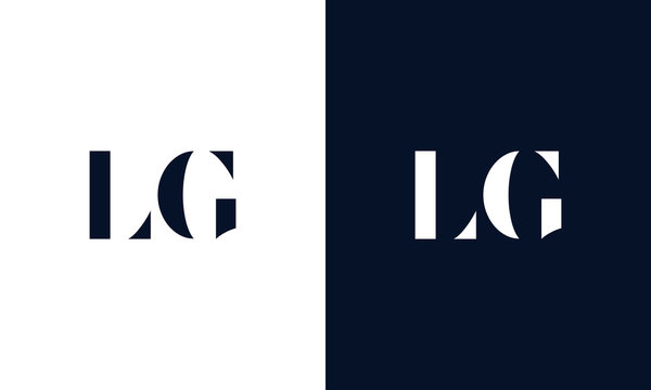 Abstract letter LG logo. This logo icon incorporate with abstract shape in the creative way.