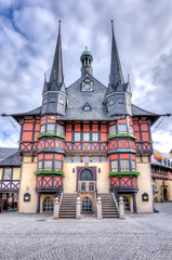 Wernigerode Town Hall on Market square, Germany