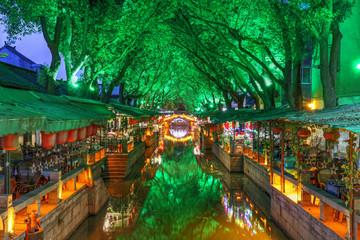 Tongli water town at night, China