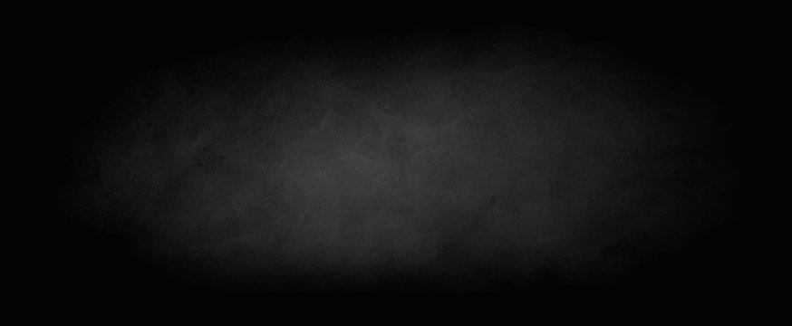 Black background with dark border with marbled soft lighting and texture design, elegant old vintage distressed background