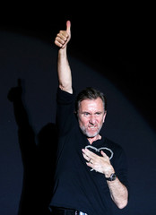 Director Tim Roth receives the Heart of Sarajevo honorary award during the 25th Sarajevo Film Festival
