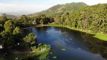 Fototapete - Resort Selva in Nicaragua Matagalpa department on sunny morning