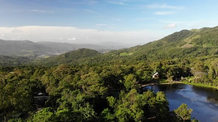 Fototapete - Tourism destination in Nicaragua matagalpa department aerial above drone view