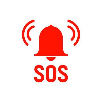 Sos icon emergency alarm button. SOS sign symbol lifebuoy rescue isolated marker