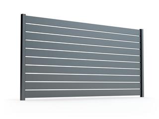 Obraz Fence panel isolated on white, 3D illustration - fototapety do salonu