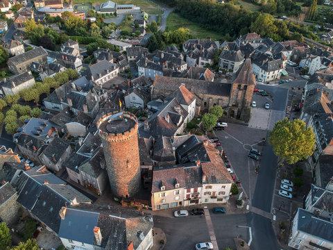Allassac (Corrèze, France) - Vue aérienne