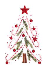Christmas ornament on white.