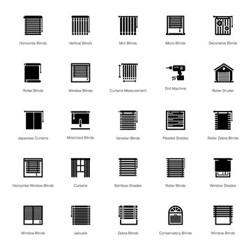 Blinds Glyph Icons