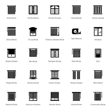Window Shutter Icons