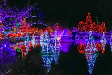 Poster Submarine Christmas Lights Reflection Van Dusen Garden Vancouver BC Canada
