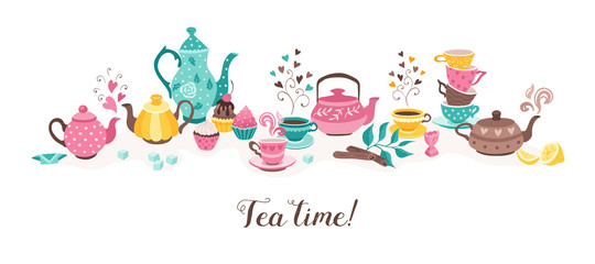 tea time horizontal banner