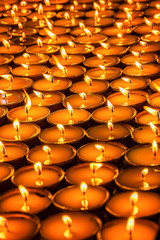 candles in the church