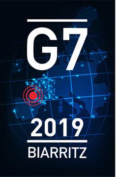 réunion du G7 en France à Biarritz en 2019