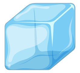 Ice cube isolated on white