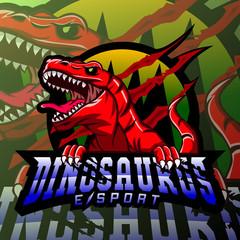 Dinosaur sport mascot logo design