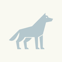 Wolf logo. Icon design. Template elements