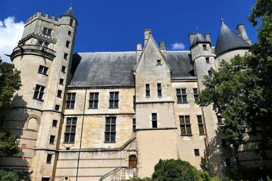 Façade arrière du Palais Jacques Cœur à Bourges, Cher, France