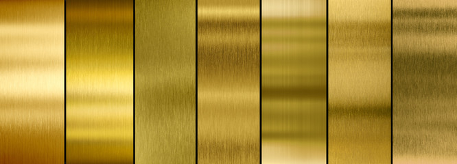 Wall Mural - various brushed gold metal plates