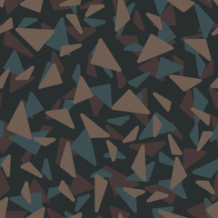 Camouflage Round Triangles Seamless Pattern