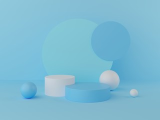 3d rendering geometry shapes mock up scene minimal concept, pastel color podium and background for product or perfume