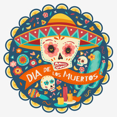 Day of the dead. Vector illustration.