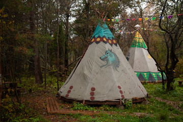 Northern Cherokee indian tee pee triangular house