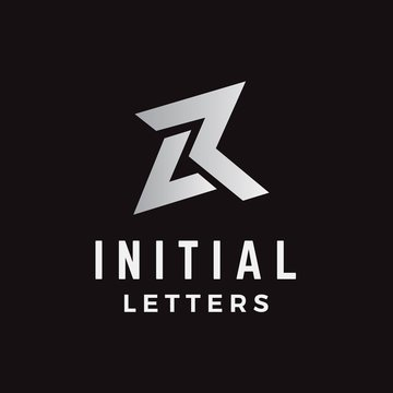 Initial letter LR logo design in geometric and masculine shapes on the logo