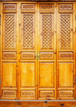 Traditional Chinese doors. Located in Dali, Yunnan, China.