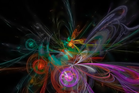 abstract fractal fantasy design background