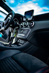 Automobile Interior of modern car