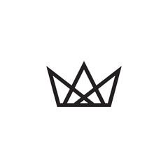 Crown logo design vector template