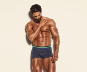 Handsome Athletic Men Posing in Underwear