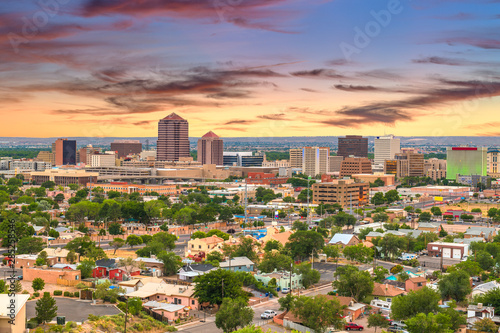 Fototapete Albuquerque, New Mexico, USA Cityscape
